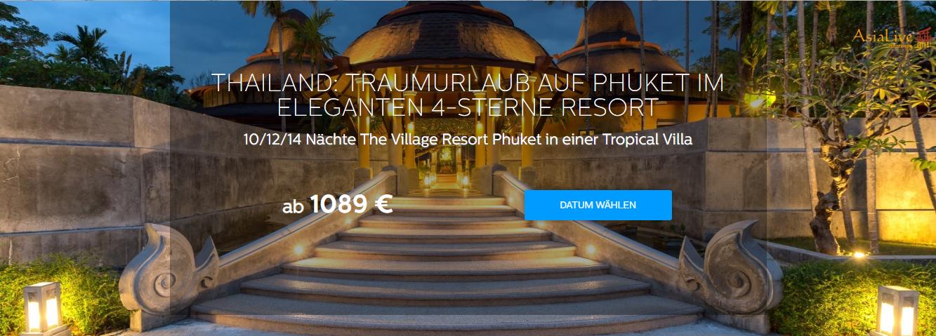 Thailand Traumreise Phuket 4-Sterne Resort buchen Asia Live Kombireisen in Oberhausen