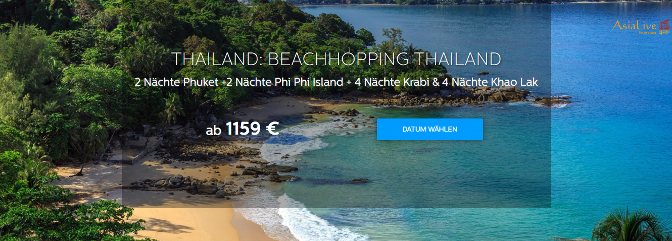 BEACHHOPPING THAILAND ab 1159 € ↓