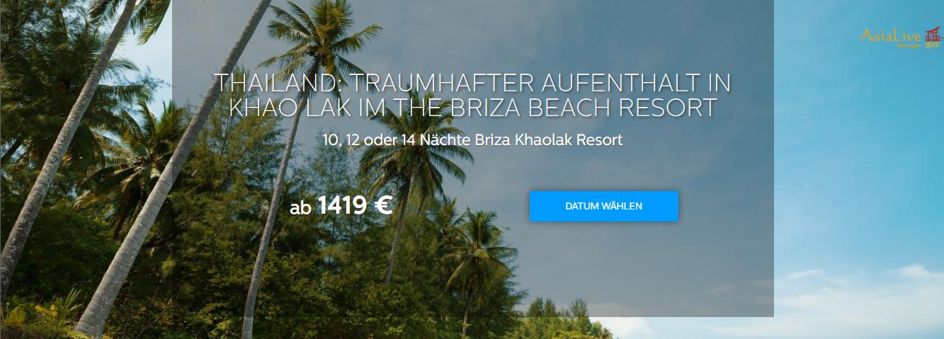 Thailand: Traumhafter Aufenthalt on Khao Lak im THE BRIZA BEACH RESORT - Asia Live Fernreisen