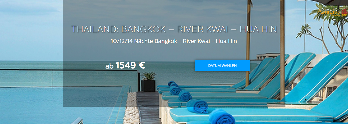 Thailand Reise 'Bangkok - River Kwai - Hua Hin bei Asia Live Fernreisen buchen