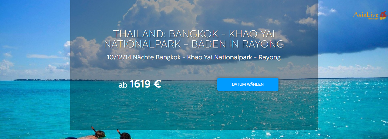 Thailand Reise Bangkok - Khao Yai National Park - Baden in Rayong - Asia Live Fernreisen